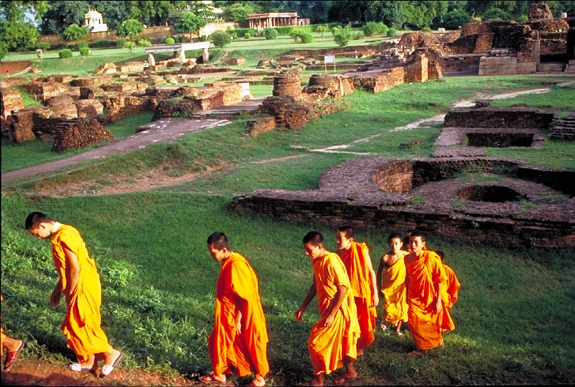 In the footsteps of Buddha